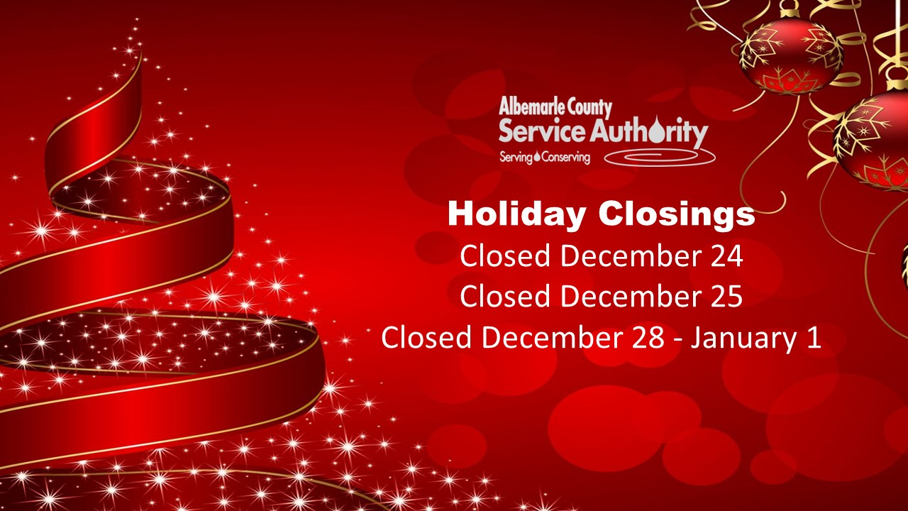 Christmasholidayhours  Albemarle County Service Authority with Albemarle County Calendar