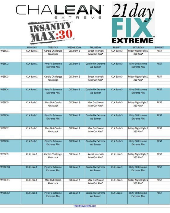 Clx, 21 Day Fix Extreme, Insanity Max 30 Hybrid Schedule pertaining to Printable Insanity Max 30 Calendar