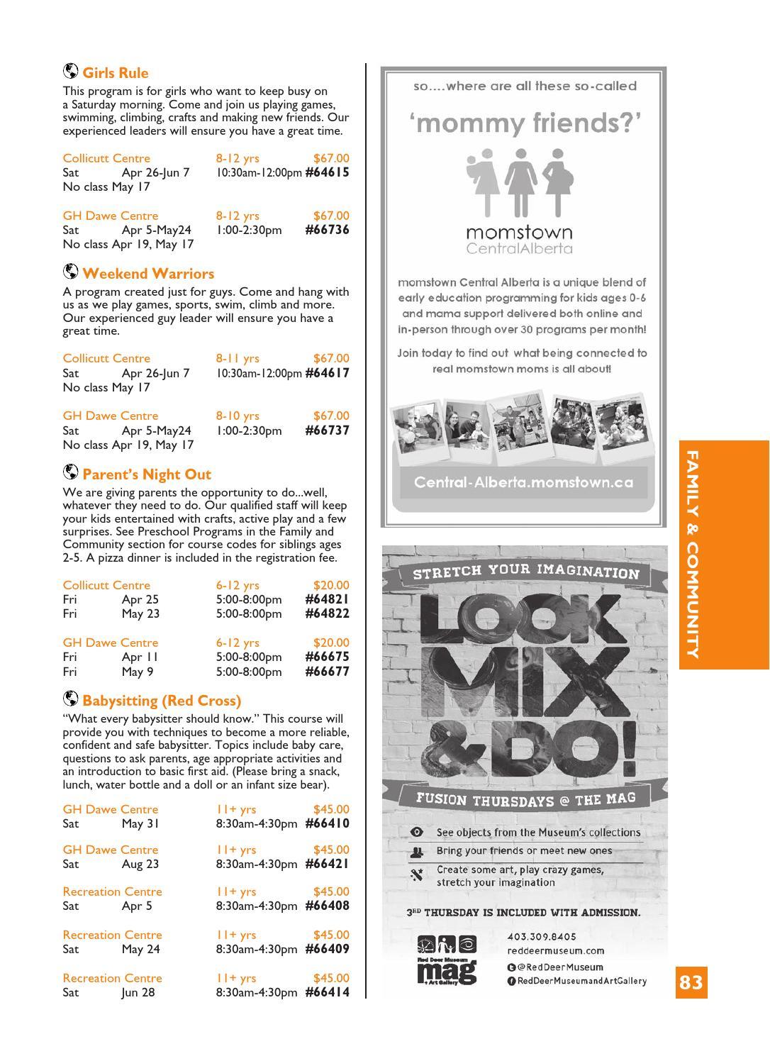 Community Services Program & Activity Guide Springsummer inside Gh Dawe Red Deer