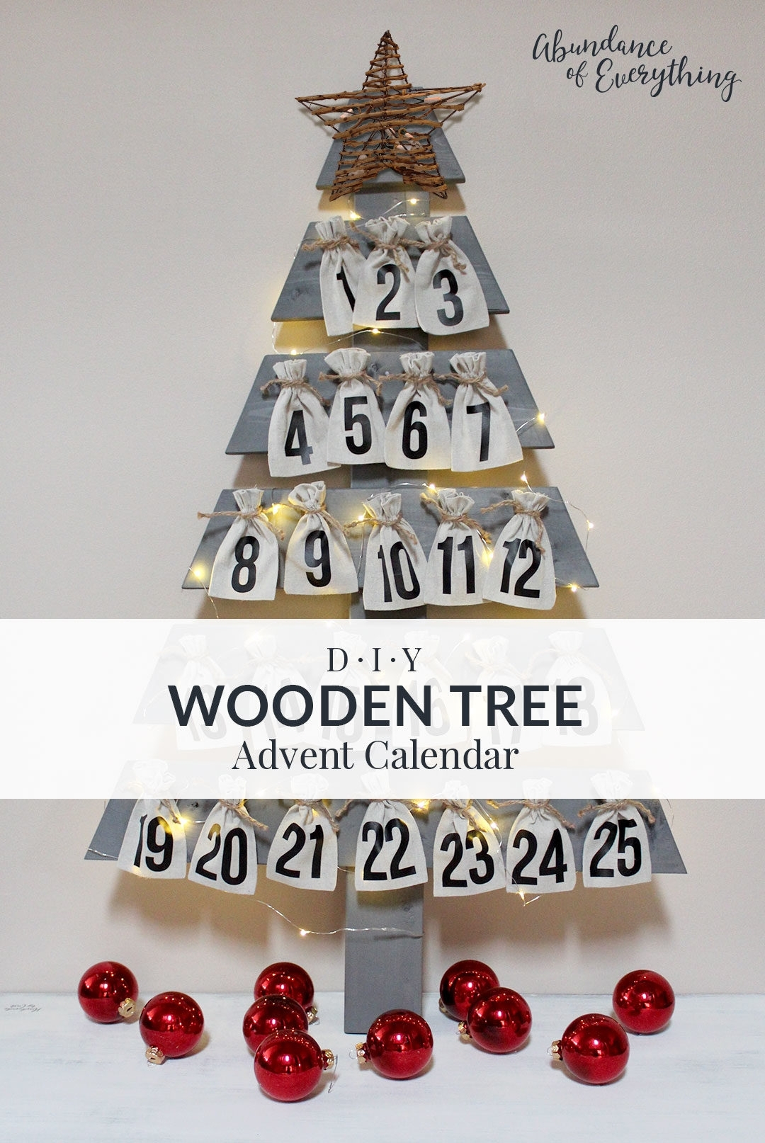 Create An Advent Calender Wooden  Calendar Inspiration Design for Jennifer Maker Advent Tree
