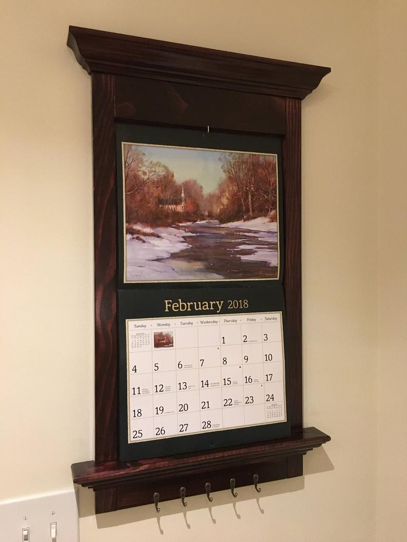 Custom Built Lang Calendar Holder Frame | Etsy regarding Calendar Frames And Holders