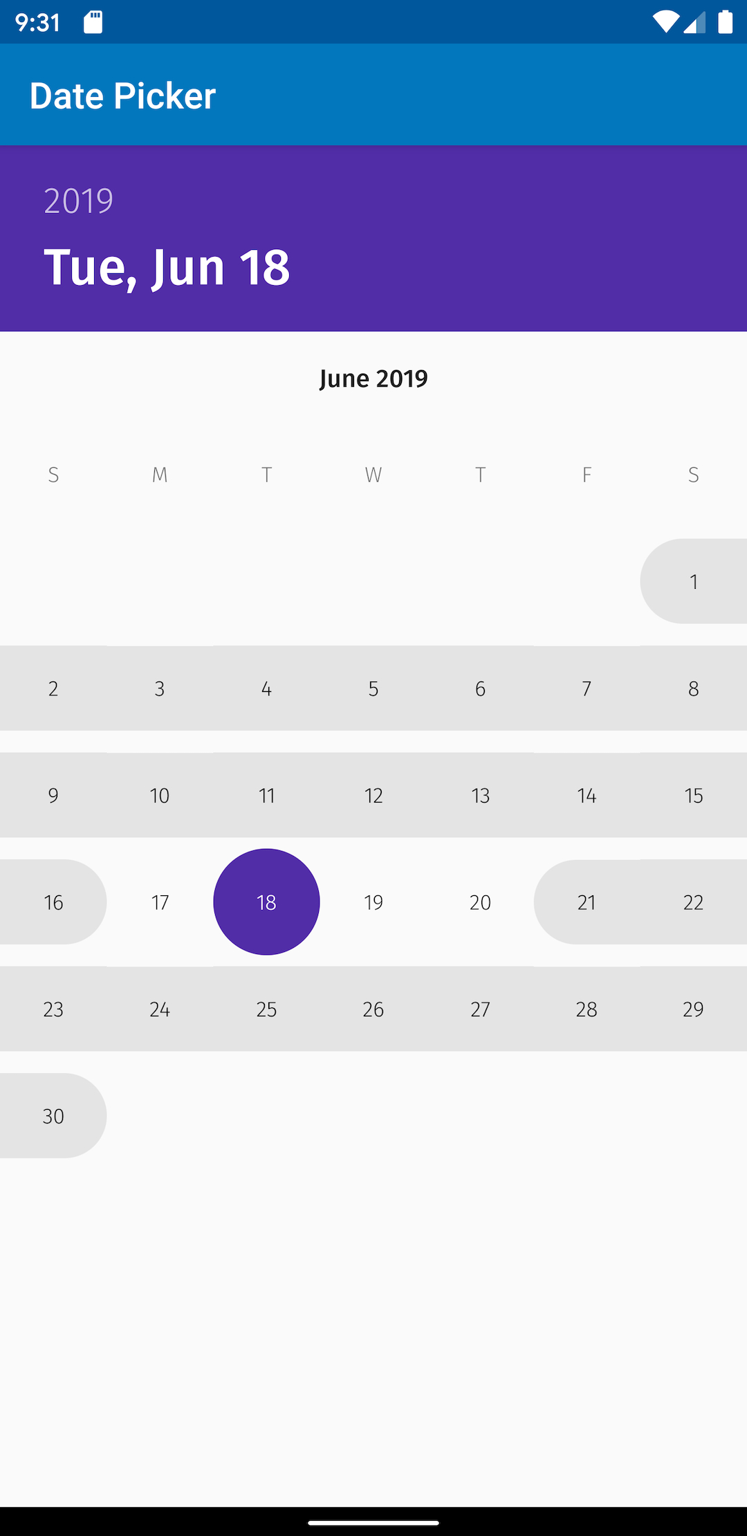 Custom Responsive Date Picker Widget For Android pertaining to Calendar Date Range Picker Android