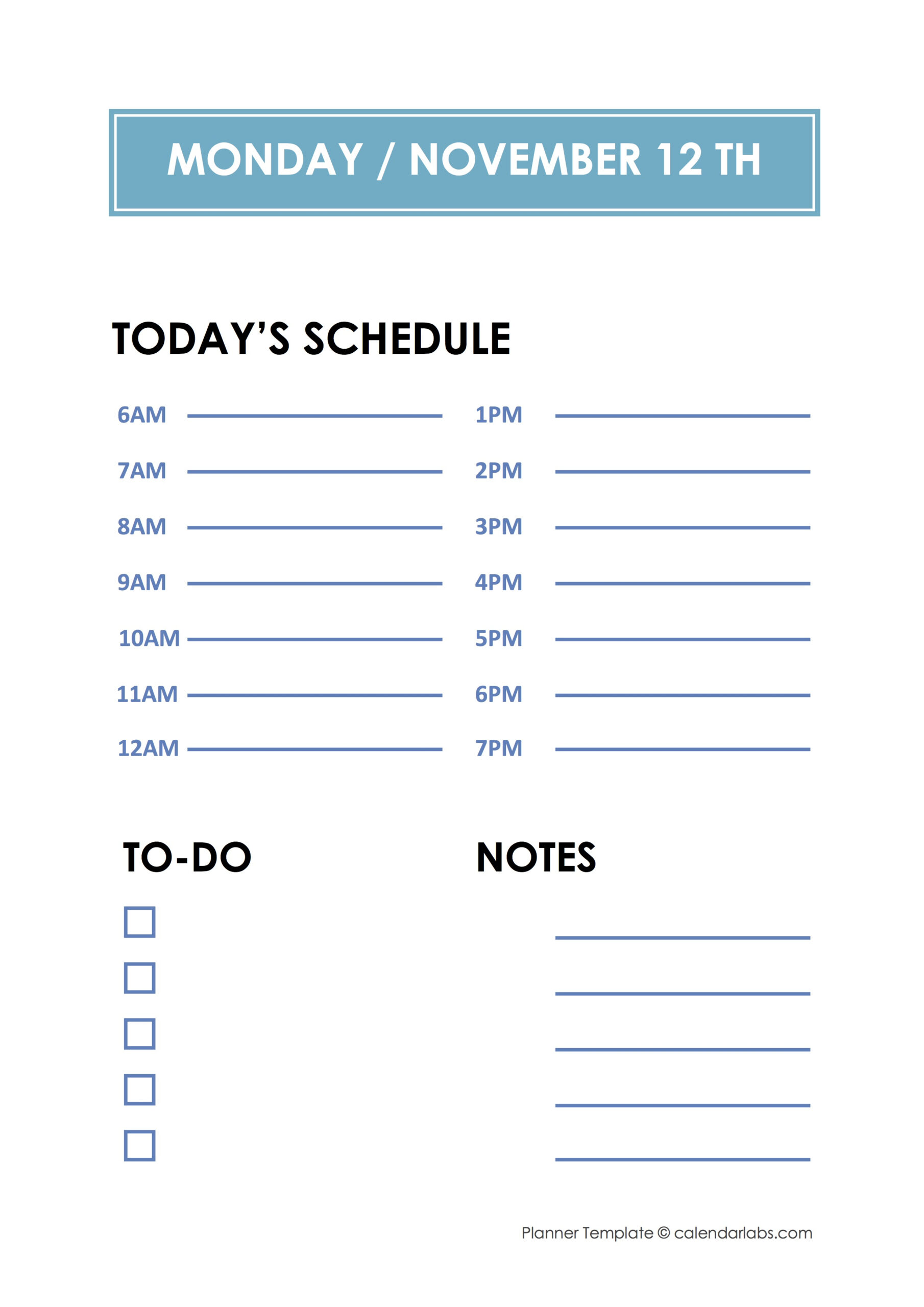 Daily Hourly Planner Template  Free Printable Templates throughout Hourly Planner Pdf