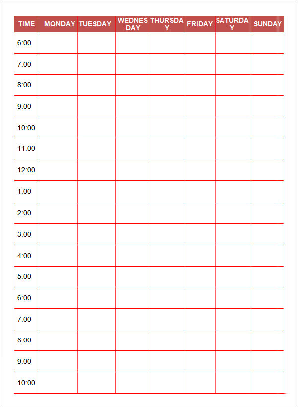 Daily Planner Template 7+ Download Documents In Pdf, Word pertaining to Daily Agenda Template Word