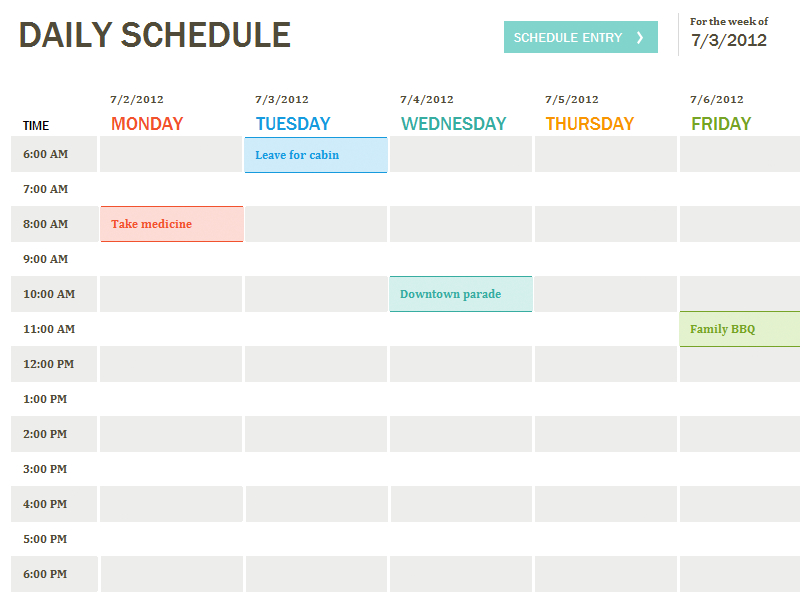 Daily Planner Template | Ecommercewordpress intended for Daily Agenda Template Word