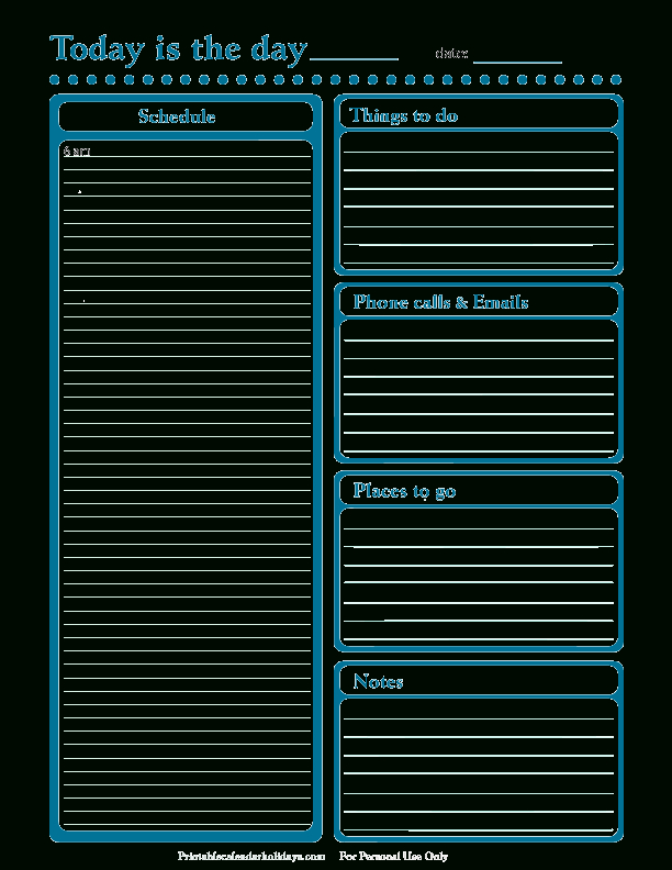 Daily Planner Template  Free Printable Daily Planner For within Free Daily Calendar Template