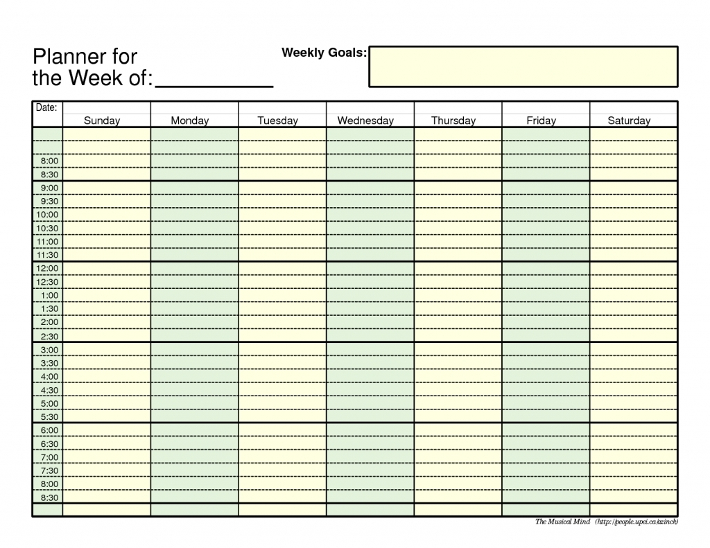 Daily Planner With Time Slots  Calendar Inspiration Design pertaining to Blank Daily Calendar With Time Slots Printable