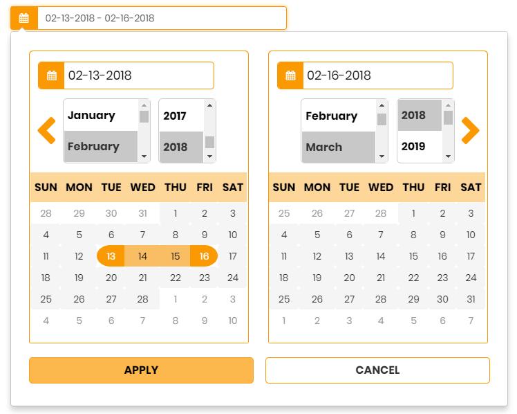 Daterange  Multipurpose Responsive Date Range Picker By inside Calendar Date Range Picker Android