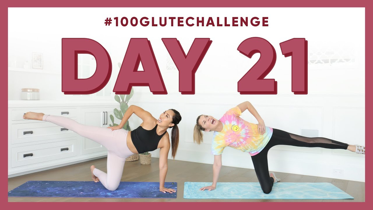 Day 21: Elevated Leg Circles! | 100 Glute Challenge W for Blogilates Thigh Challenge