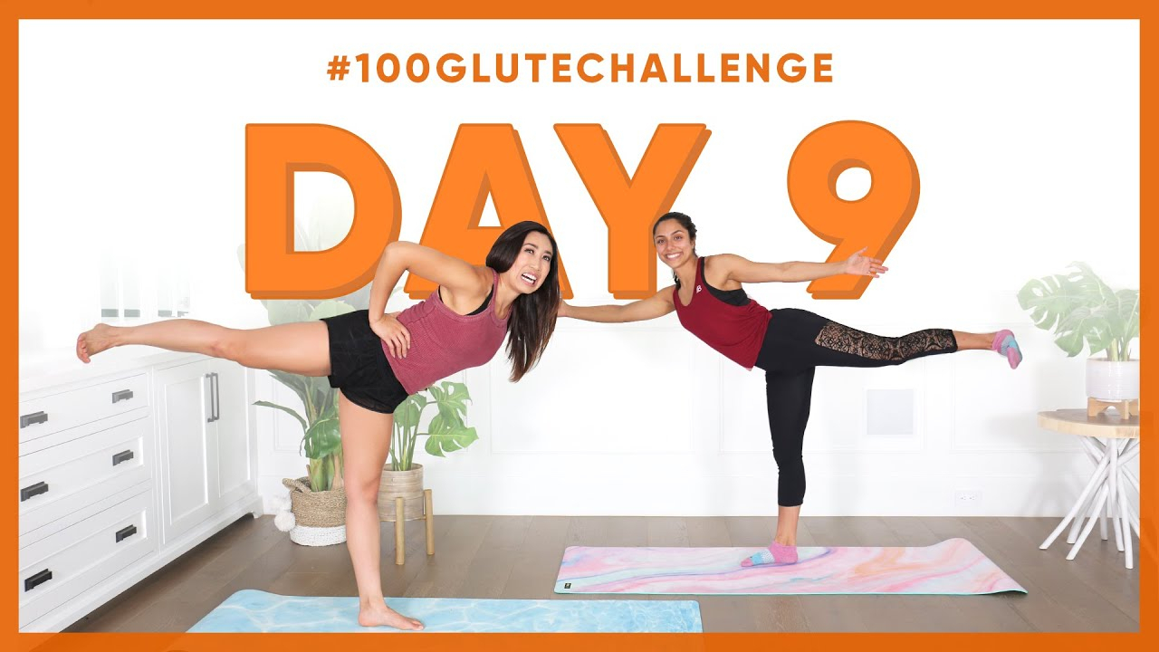 Day 9: Standing Leg Pulse! | 100 Glute Challenge W for Blogilates Thigh Challenge