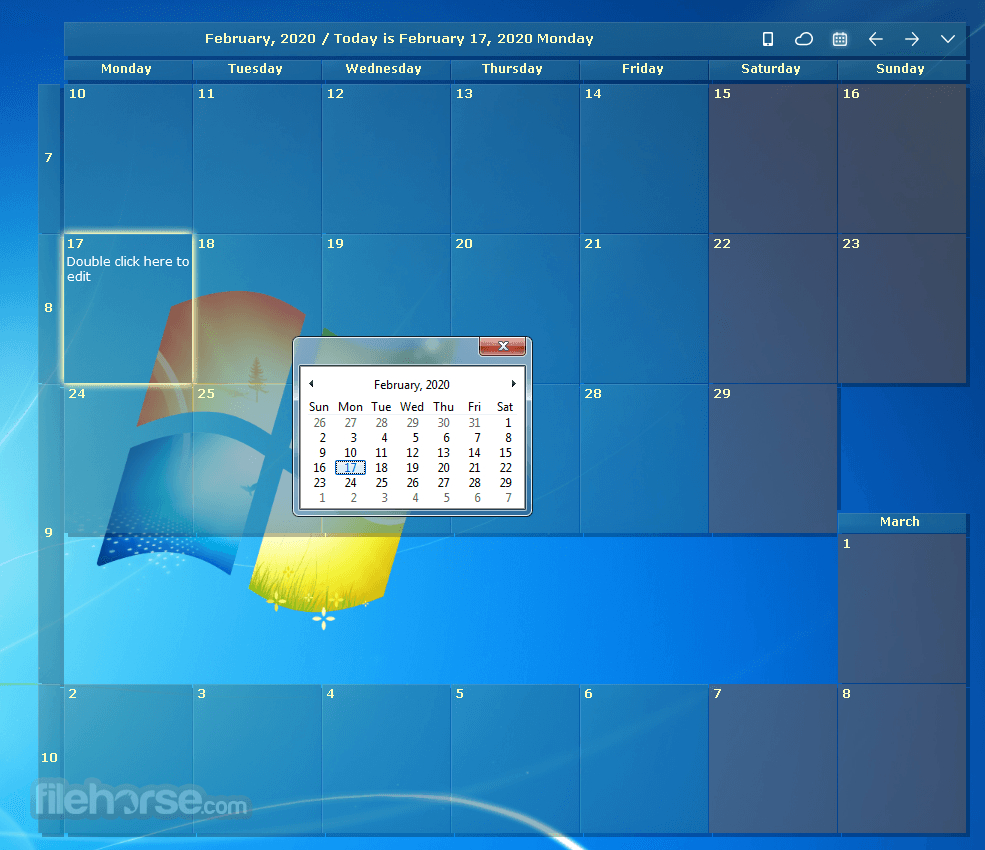 Desktop Calendar Download (2020 Latest) For Windows 10, 8, 7 within How To Put Calendar On Desktop Windows 10