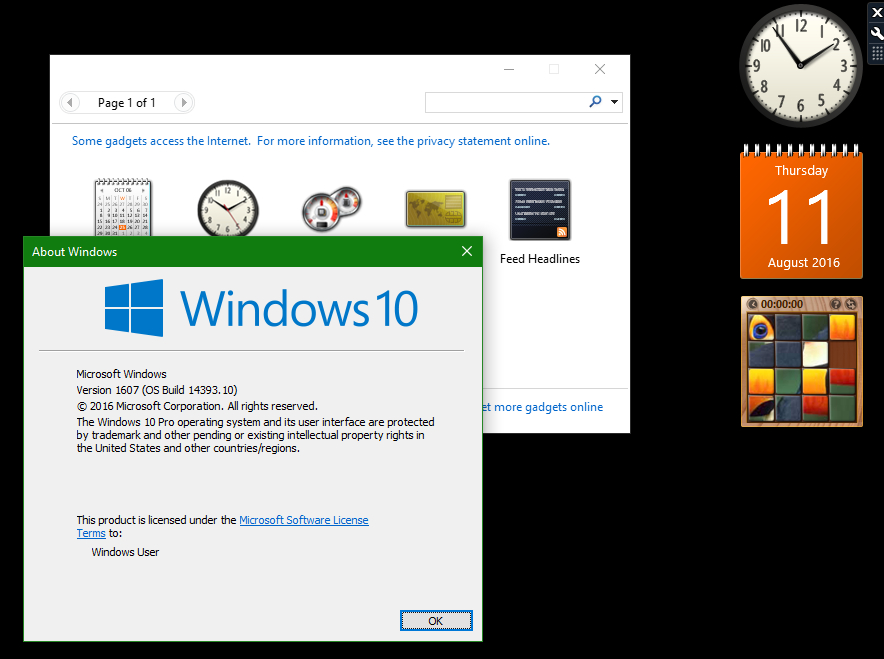 Desktop Gadgets And Sidebar For Windows 10 within Windows 10 Calendar Widget