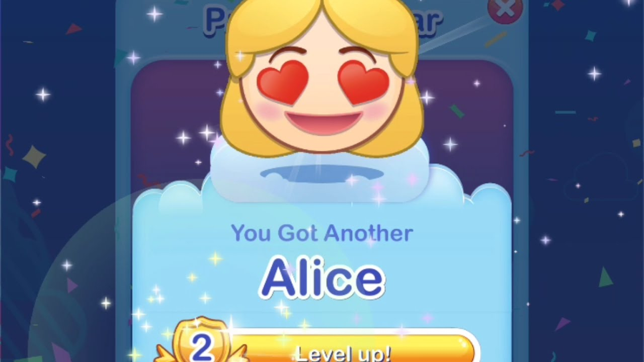 [Disney Emoji Blitz] Alice Emoji Level Up! #39 [Power intended for Disney Emoji Blitz Calendar