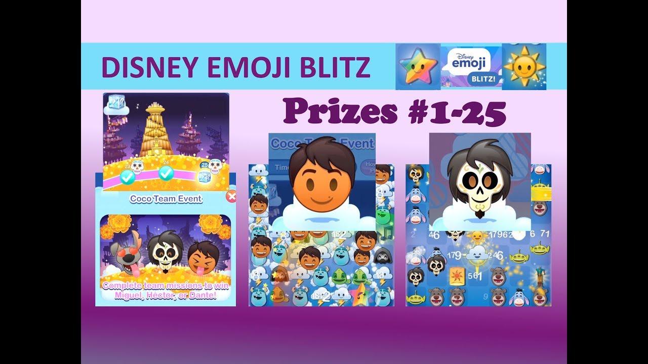 Disney Emoji Blitz Coco Team Event (Missions & Prizes 125 within Disney Emoji Blitz Event Calendar