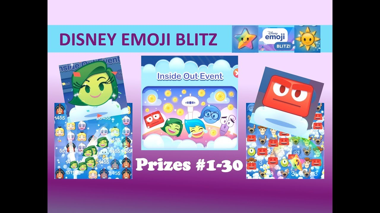Disney Emoji Blitz Inside Out Survival Event Prizes 130 in Disney Emoji Blitz Event Calendar