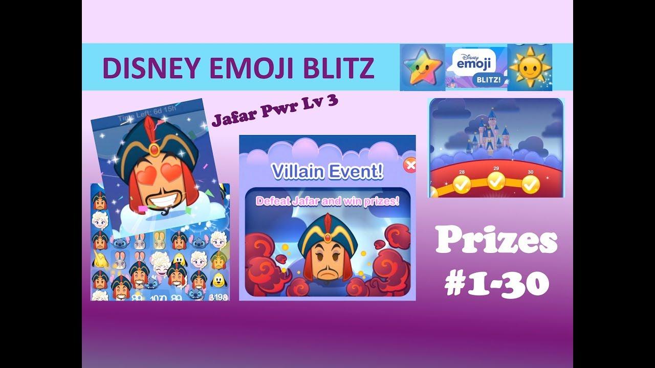 Disney Emoji Blitz Jafar Villain Event Prizes #130, Jafar inside Disney Emoji Blitz Event Calendar