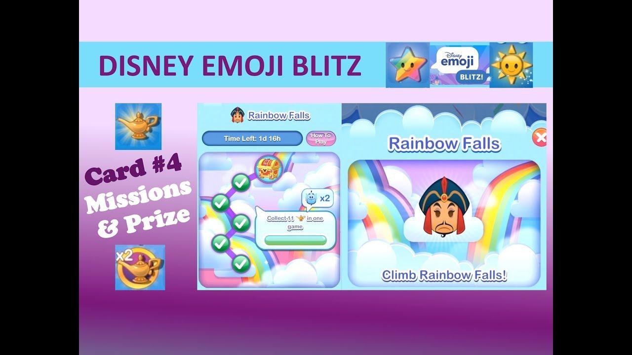 Disney Emoji Blitz Rainbow Falls Card 4 (March 2018 Jafar for Disney Emoji Blitz Event Calendar