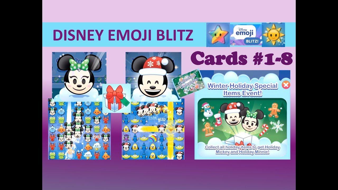 Disney Emoji Blitz Winter Holiday Event Cards 18, Holiday inside Disney Emoji Blitz Event Calendar