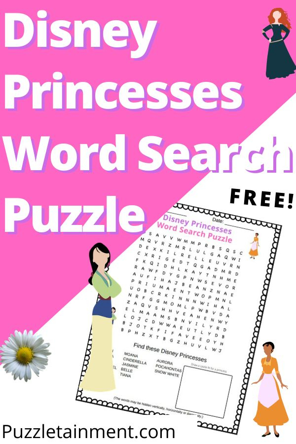 Disney Princesses Word Search Puzzle [Free Printable inside Princess Word Search