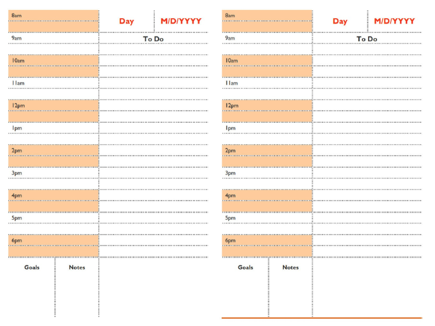 Download Daily Schedule Planner Templates | Pdf | Word pertaining to Daily Agenda Template Word