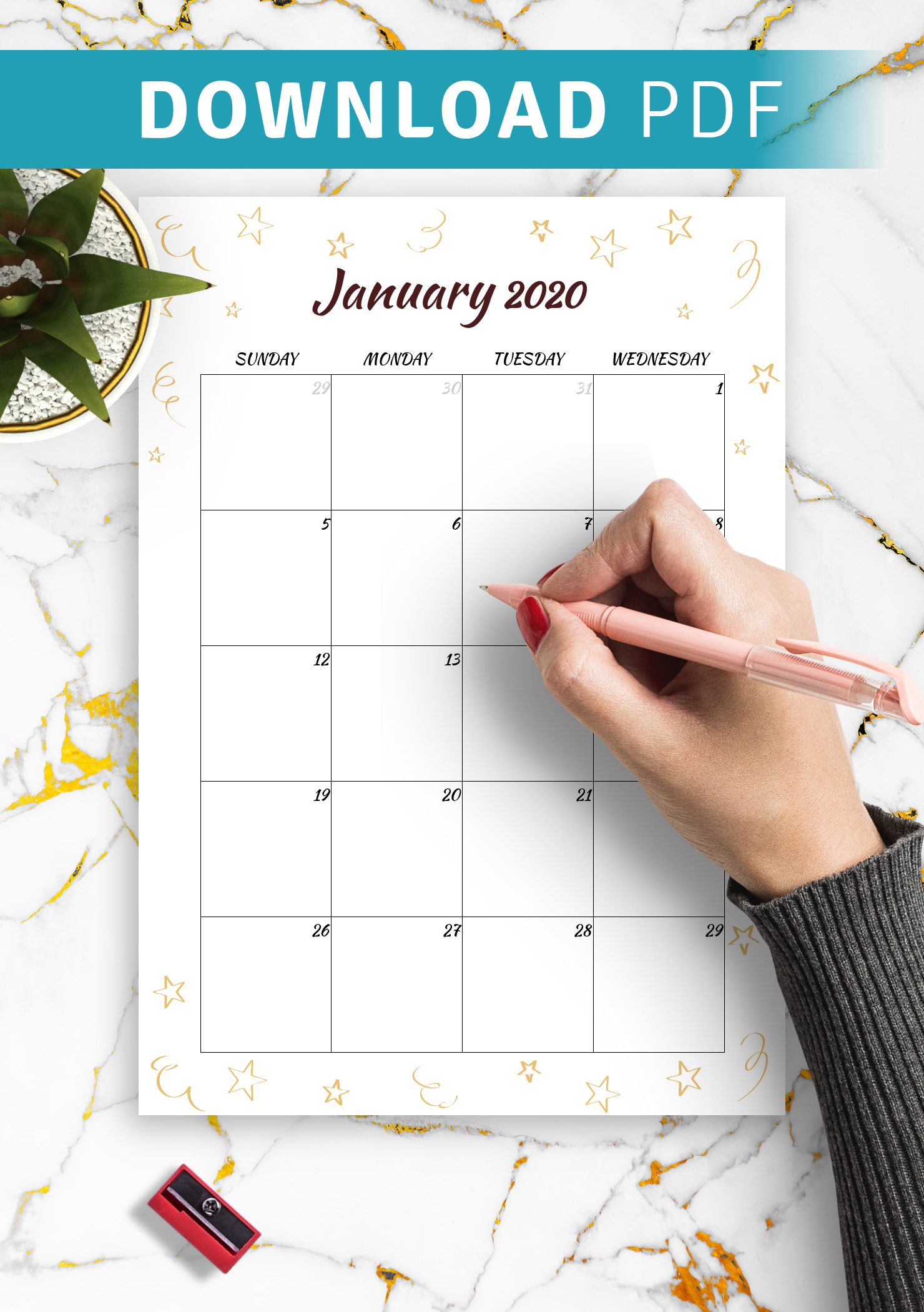 Download Printable Gold Stars Monthly Birthday Calendar Pdf throughout Birthday Calendar Template For Classroom