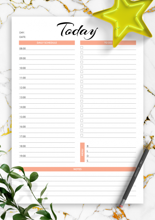 Download Printable Hourly Planner With Daily Tasks & Goals Pdf with regard to Weekly Hourly Planner Free Printable