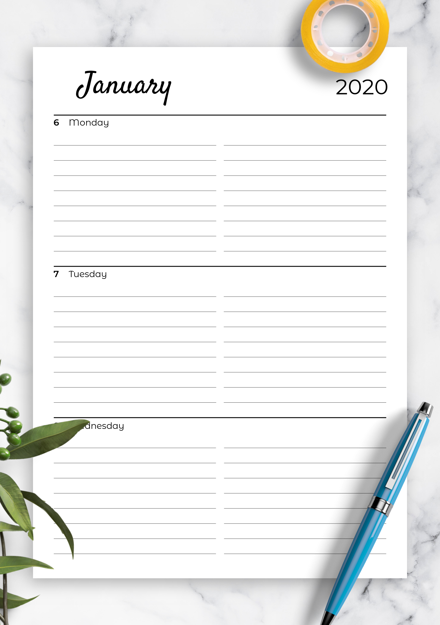 Download Printable Lined Weekly Planner With Calendar Pdf pertaining to Free Printable Monthly Calendar Pages With Lines