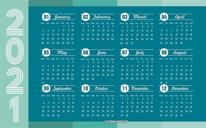 Download Wallpapers Blue 2021 Calendar, 4K, 2021 Concepts for Khmer Calendar 2021 Wallpaper