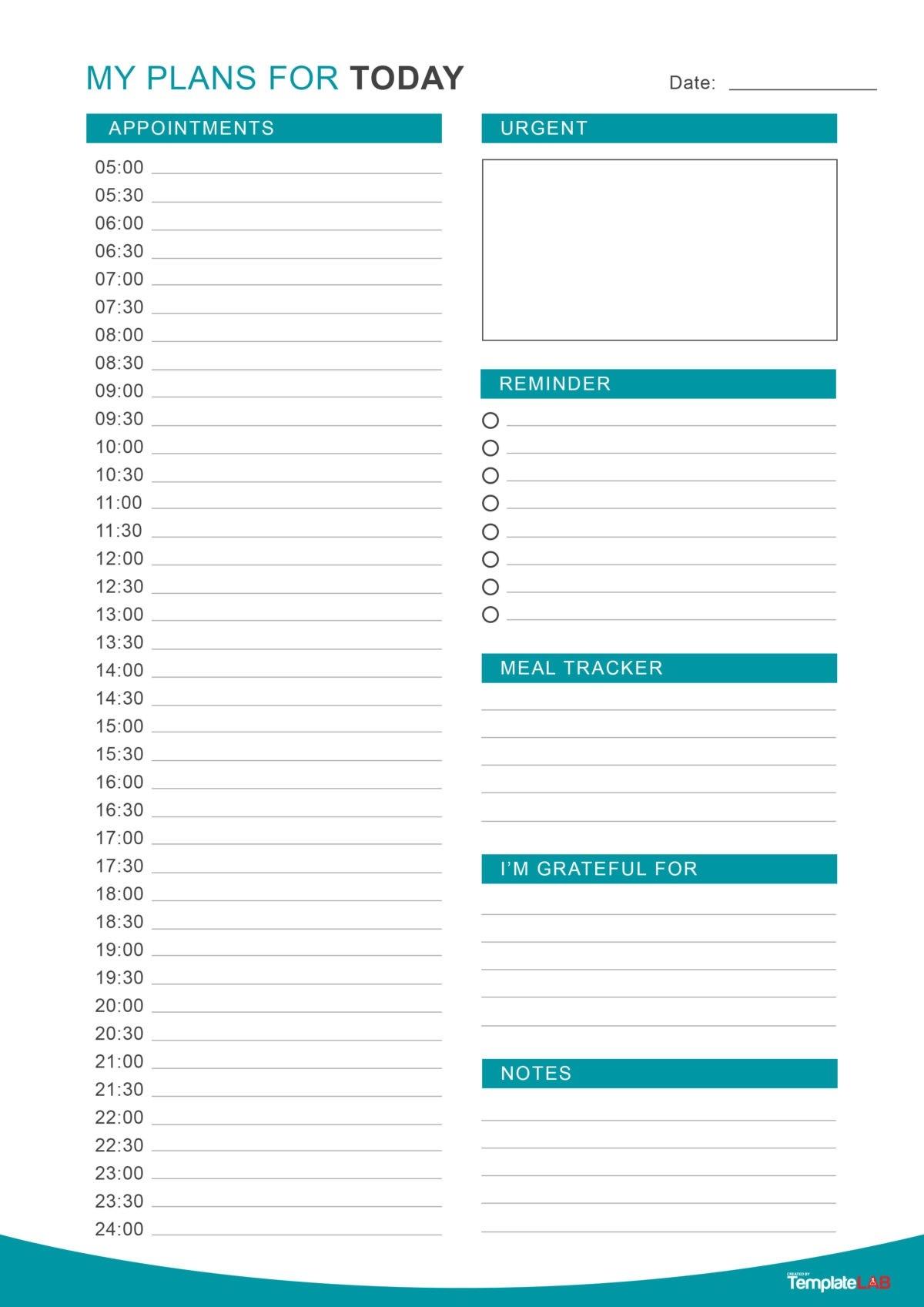 Edi Suparman  Template Calendar Design for Daily Agenda Template Word