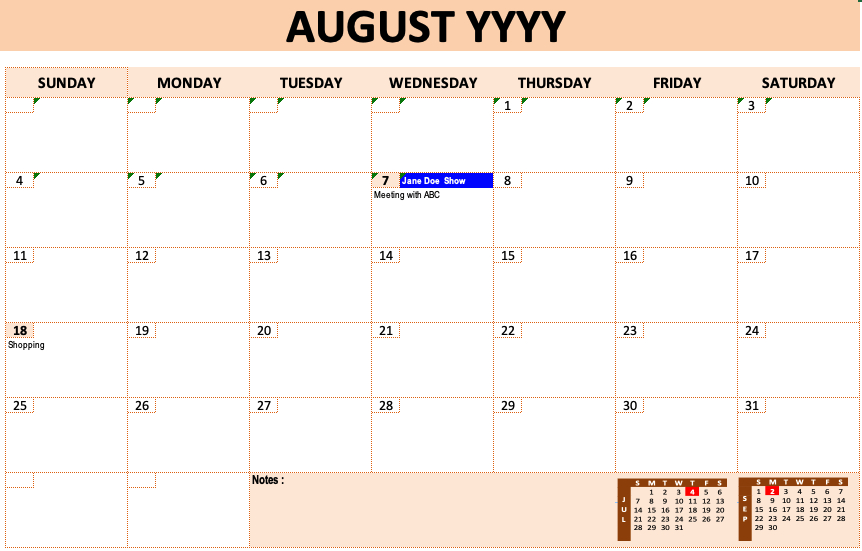 Event Calendar Template » Exceltemplate in Yearly Event Calendar Template Excel