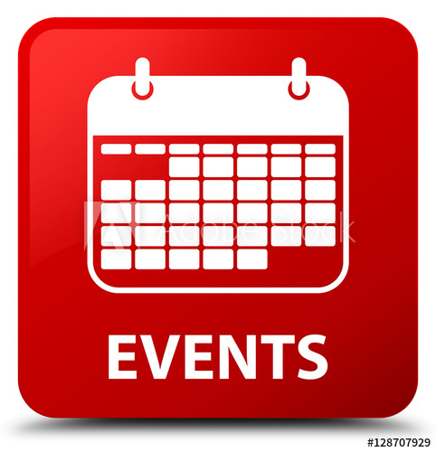 """""""Events (Calendar Icon) Red Square Button"""" Stock Photo And for Calendar Icon Red"""