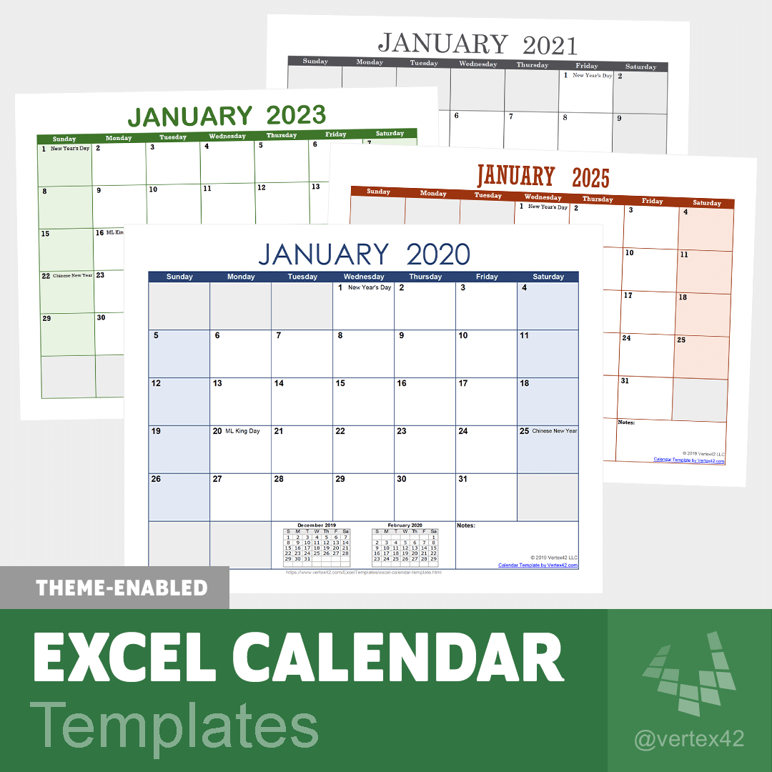 Excel Calendar Template For 2020 And Beyond with Yearly Event Calendar Template Excel