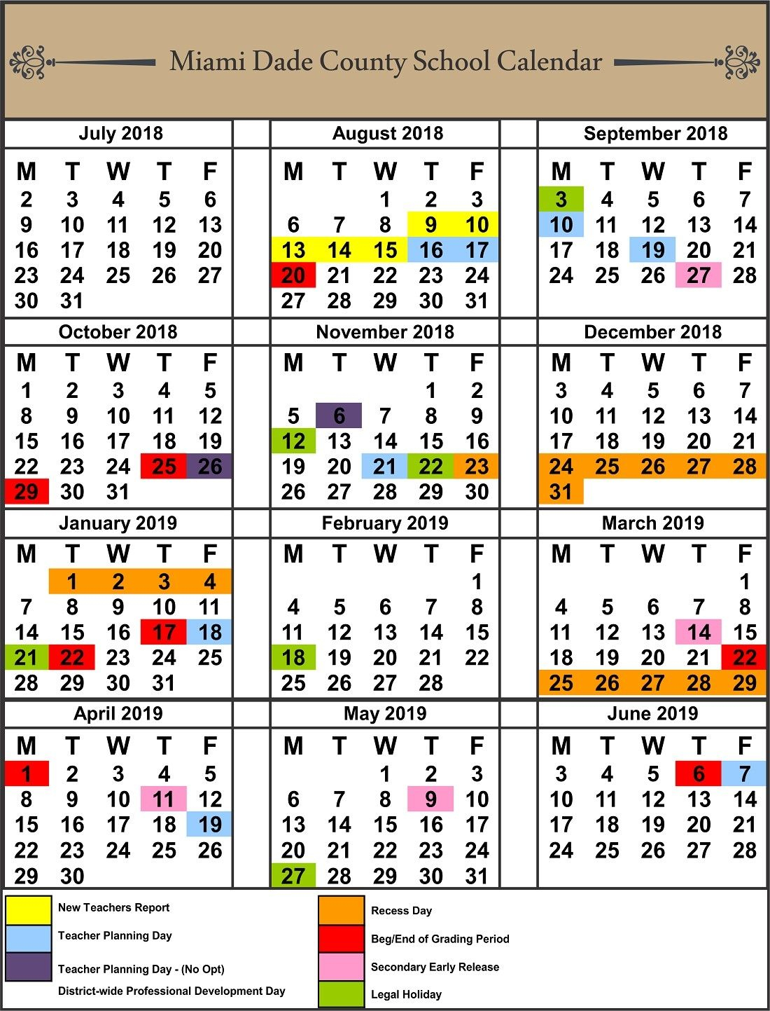 Exceptional School Calendar Leon County In 2020 | School with regard to Pb County School Calendar