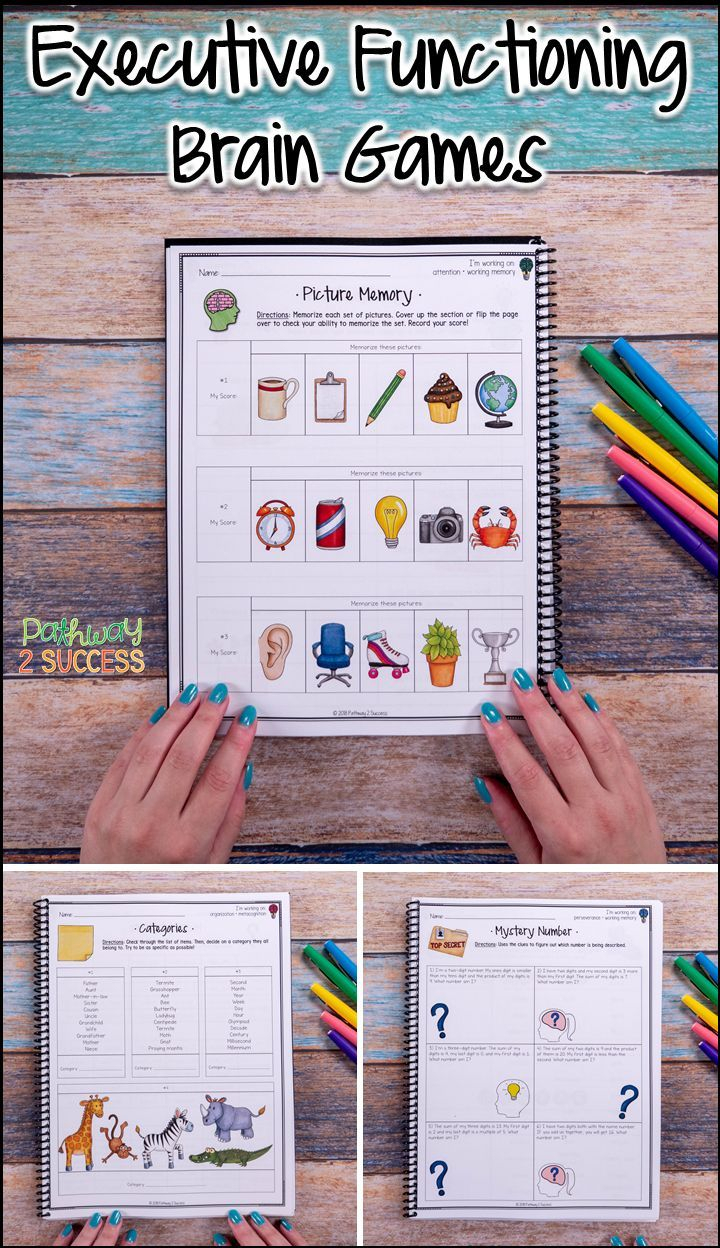Executive Functioning Brain Games   Brain Games For Adults intended for Executive Functioning Activity Worksheets