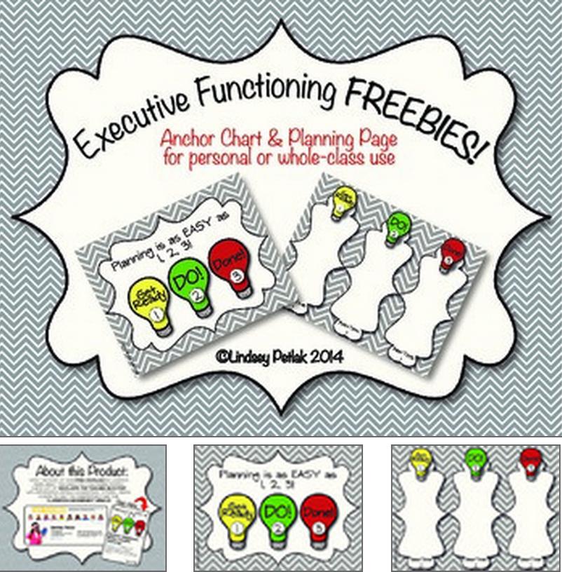 Executive Functioning Freebie | Executive Functioning for Executive Functioning Activity Worksheets
