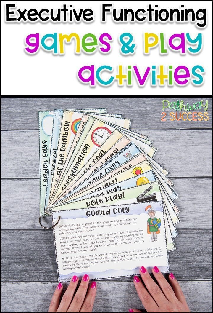 Executive Functioning Games And Play Activities with Executive Functioning Activity Worksheets