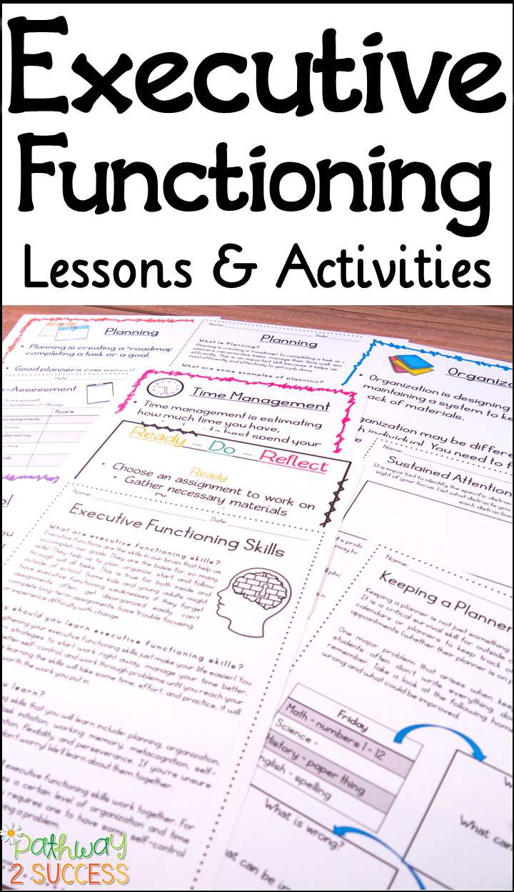 Executive Functioning Lessons And Activities | Executive for Executive Functioning Activity Worksheets