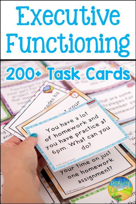 Executive Functioning Task Cards  Distance Learning And with Executive Functioning Activity Worksheets