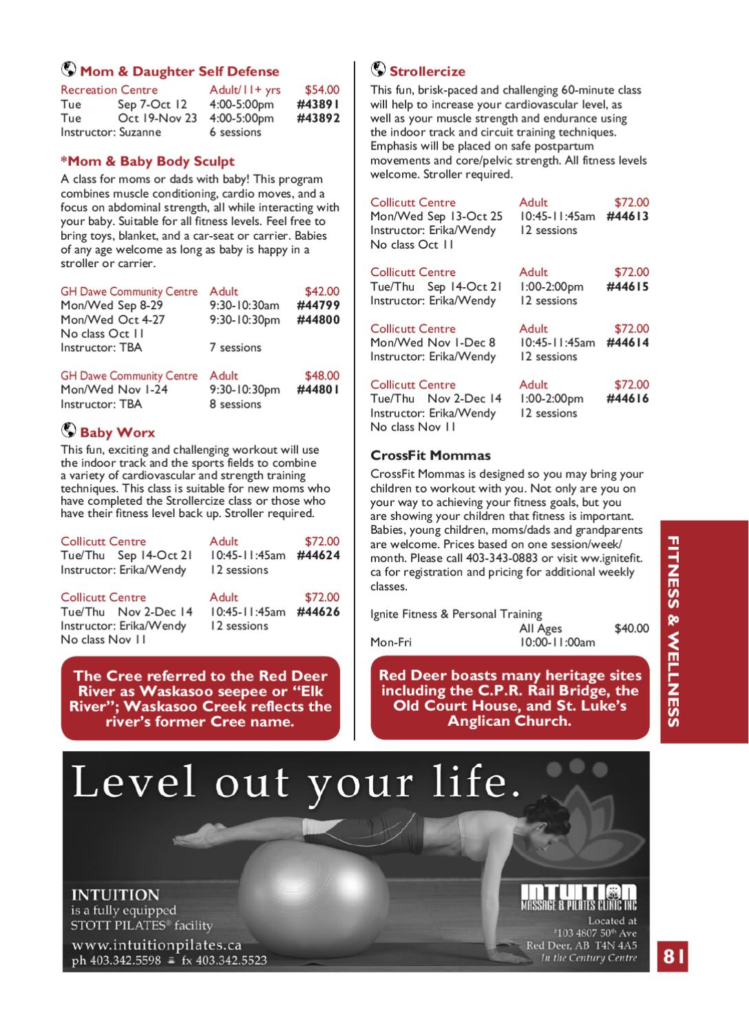 Fall Activity Guide 2010 By The City Of Red Deer  Issuu for Gh Dawe Red Deer