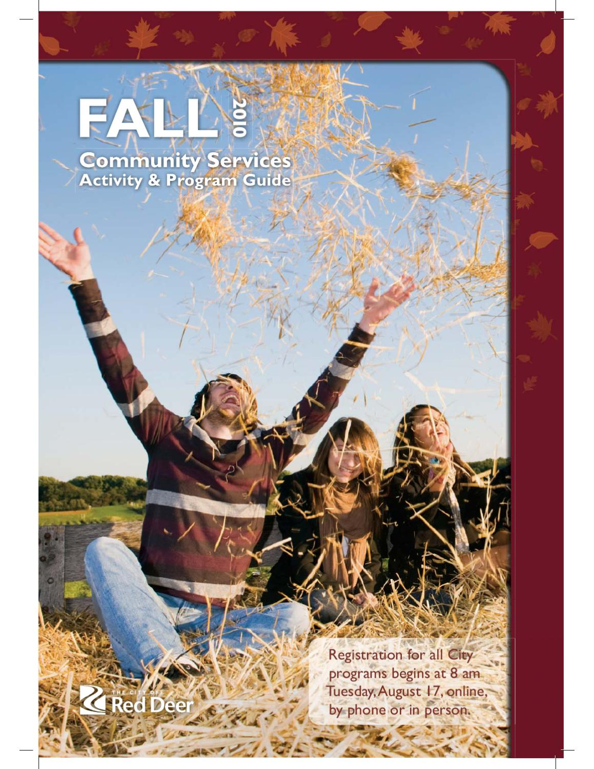 Fall Activity Guide 2010 By The City Of Red Deer  Issuu within Gh Dawe Red Deer