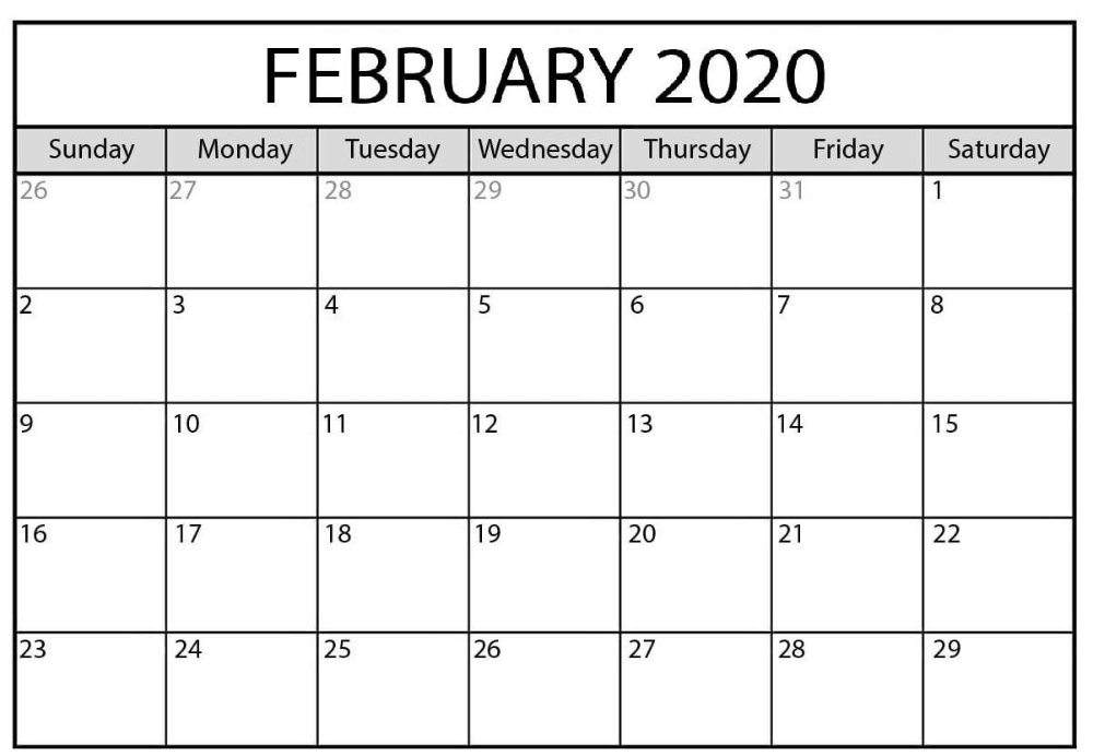 February 2020 Calendar Template Tips For A Successful within Most Goals In A Calendar Year