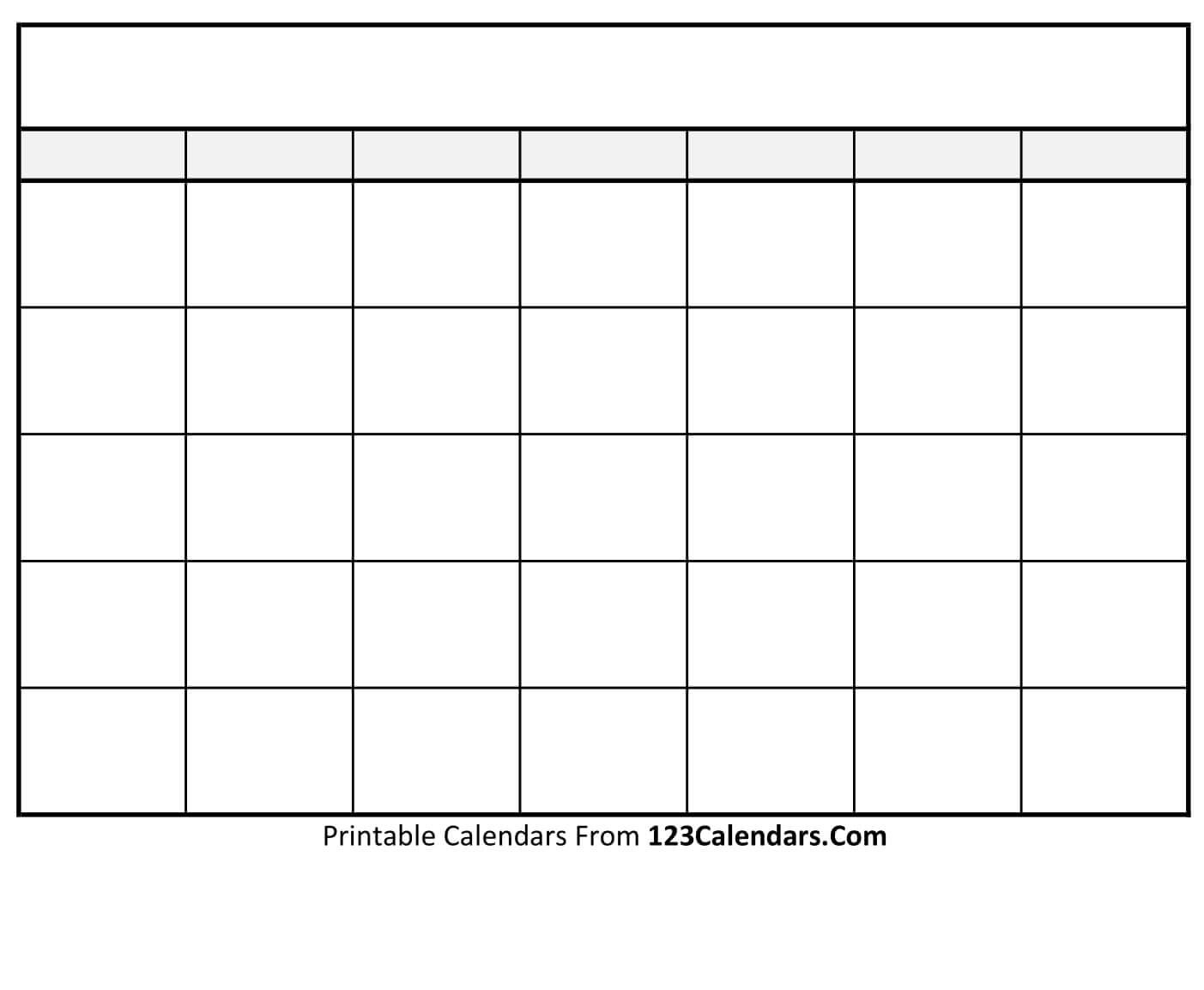 Fill In Printable Calendar Templates | Calendar Template regarding Calendar To Fill In