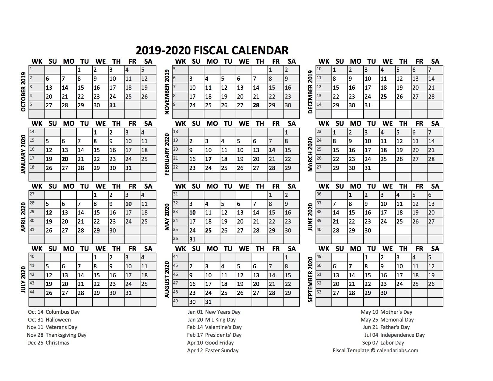 Fiscal Calendar 201920 Templates  Free Printable Templates with Financial Calendar 2021/21 Excel