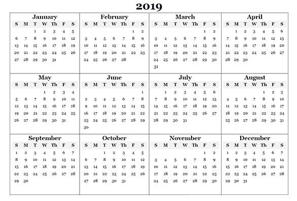 Free 12 Month Calendar One Page Template Printable Online with Calendar Template 12 Months One Page