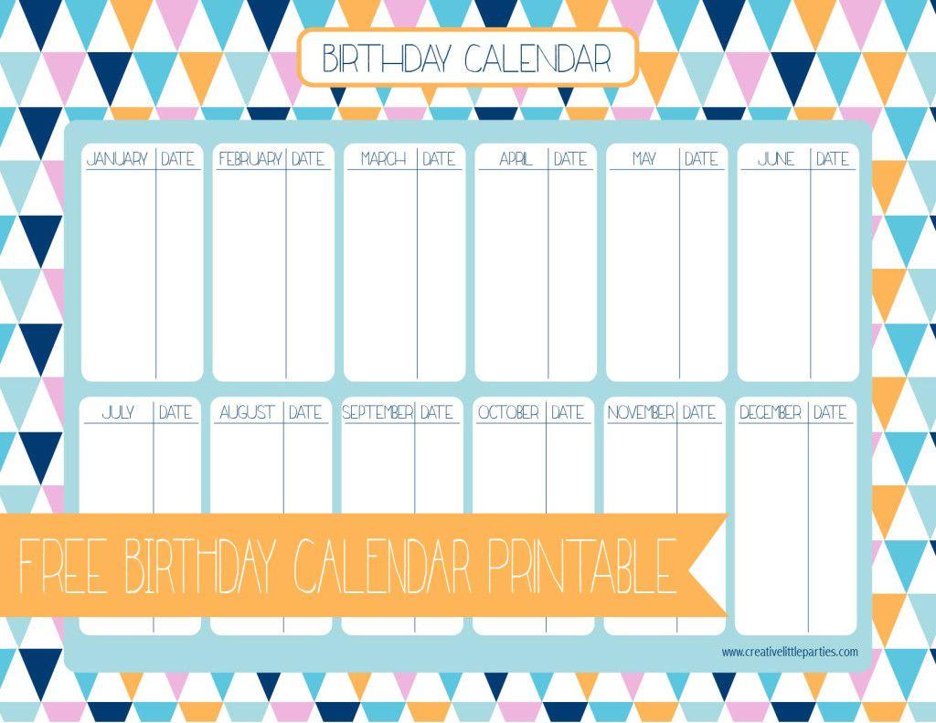 Free Birthday Calendar | Birthday Calendar, Calendar, Birthday within Birthday Calendar Template For Classroom