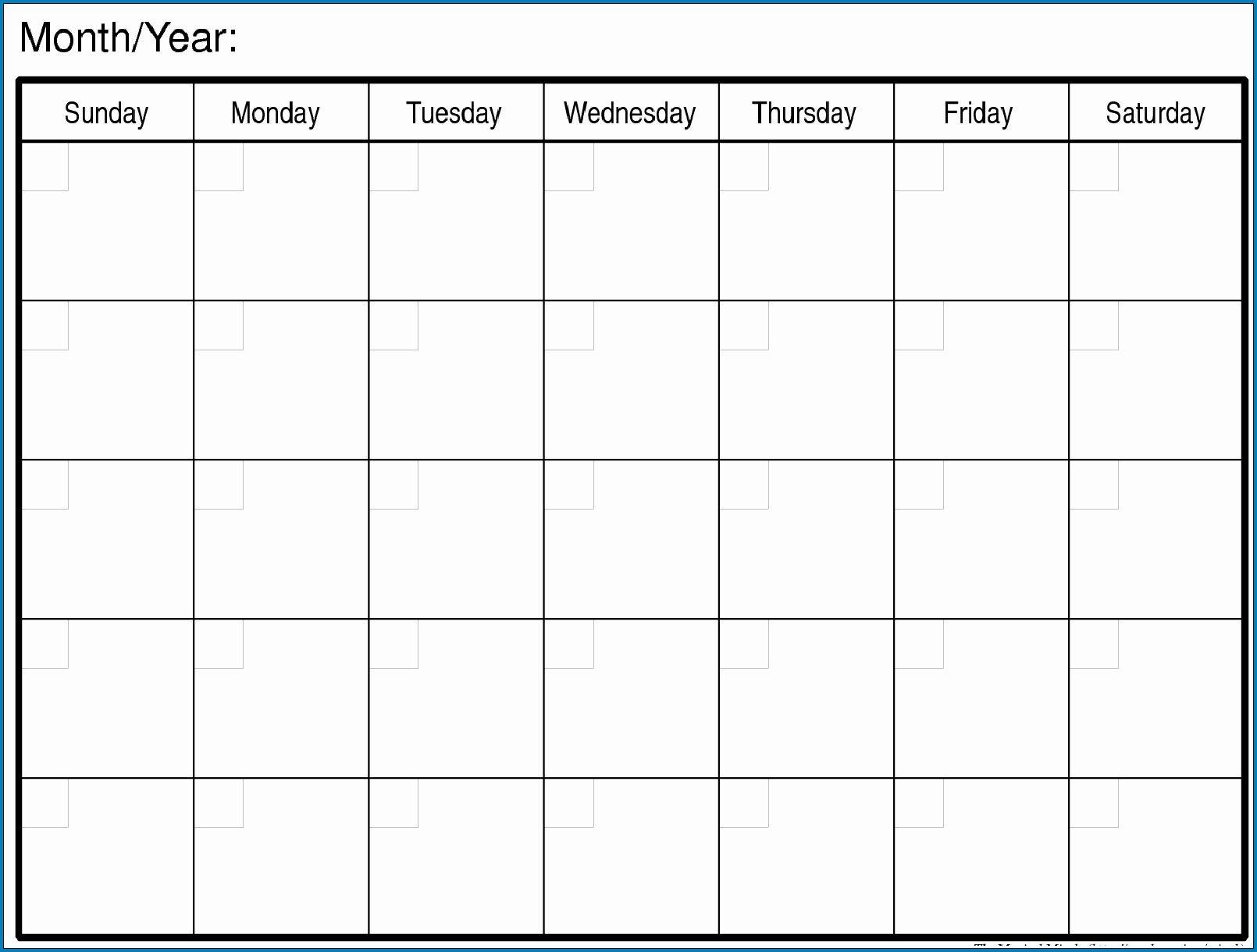 Free Blank Monday Through Friday Month Calendar Template pertaining to Printable Monday Through Friday Calendar