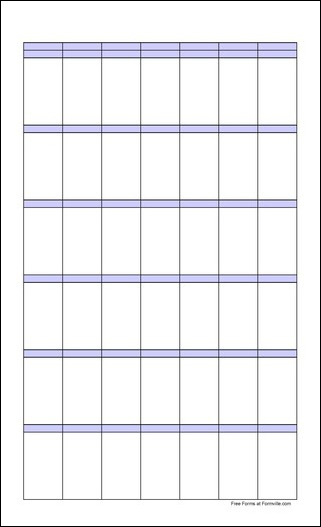 Free Large Blank Portrait Calendar From Formville regarding Blank Monthly Calendar Portrait