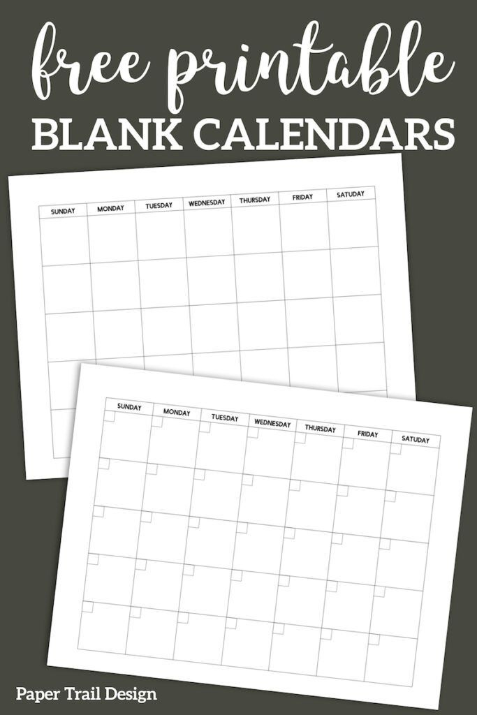 Free Printable Blank Calendar Template | Blank Calendar in 4 Month Printable Calendar
