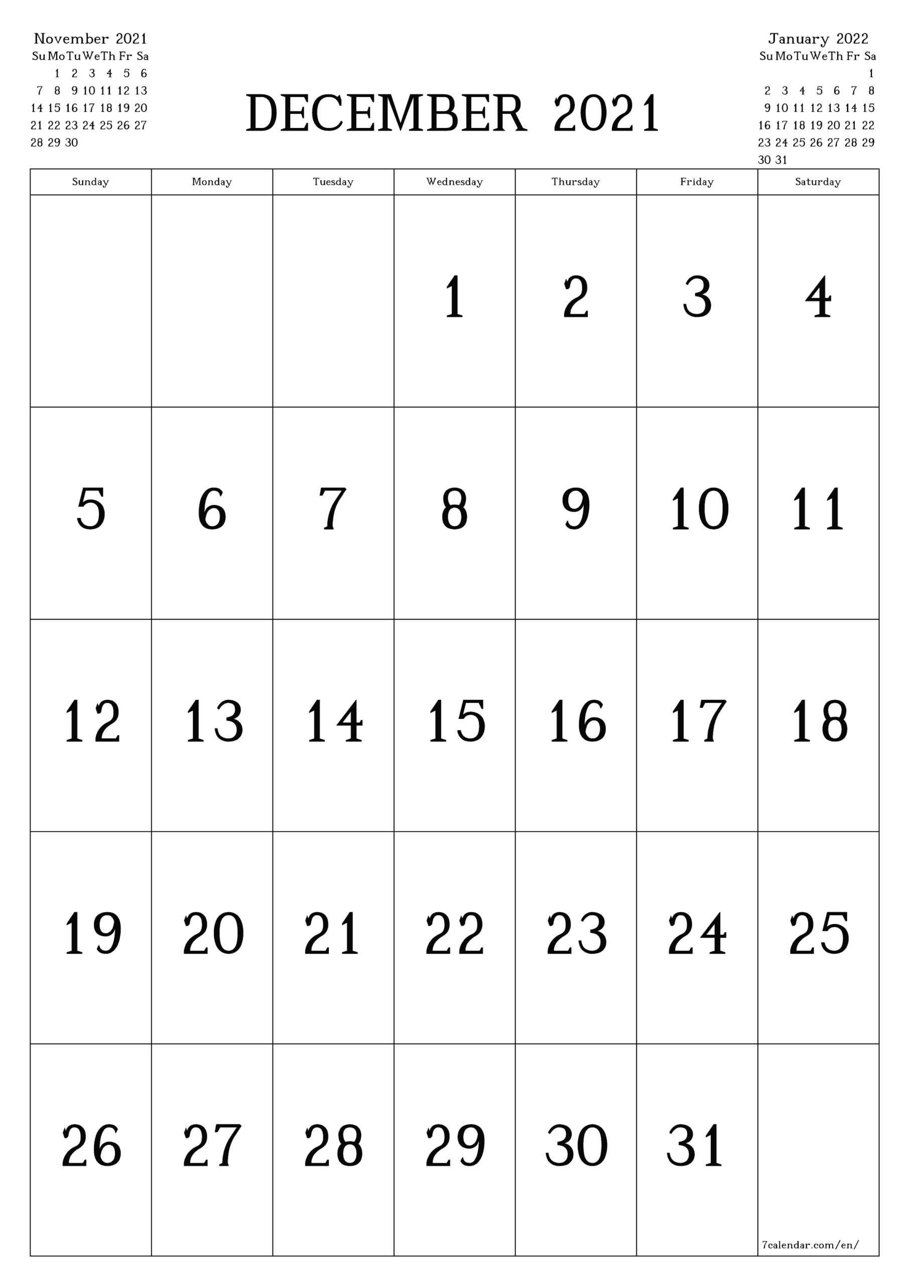 Free Printable Blank Monthly Calendar And Planner For regarding 3 Month Printed A3 Calendar 2021
