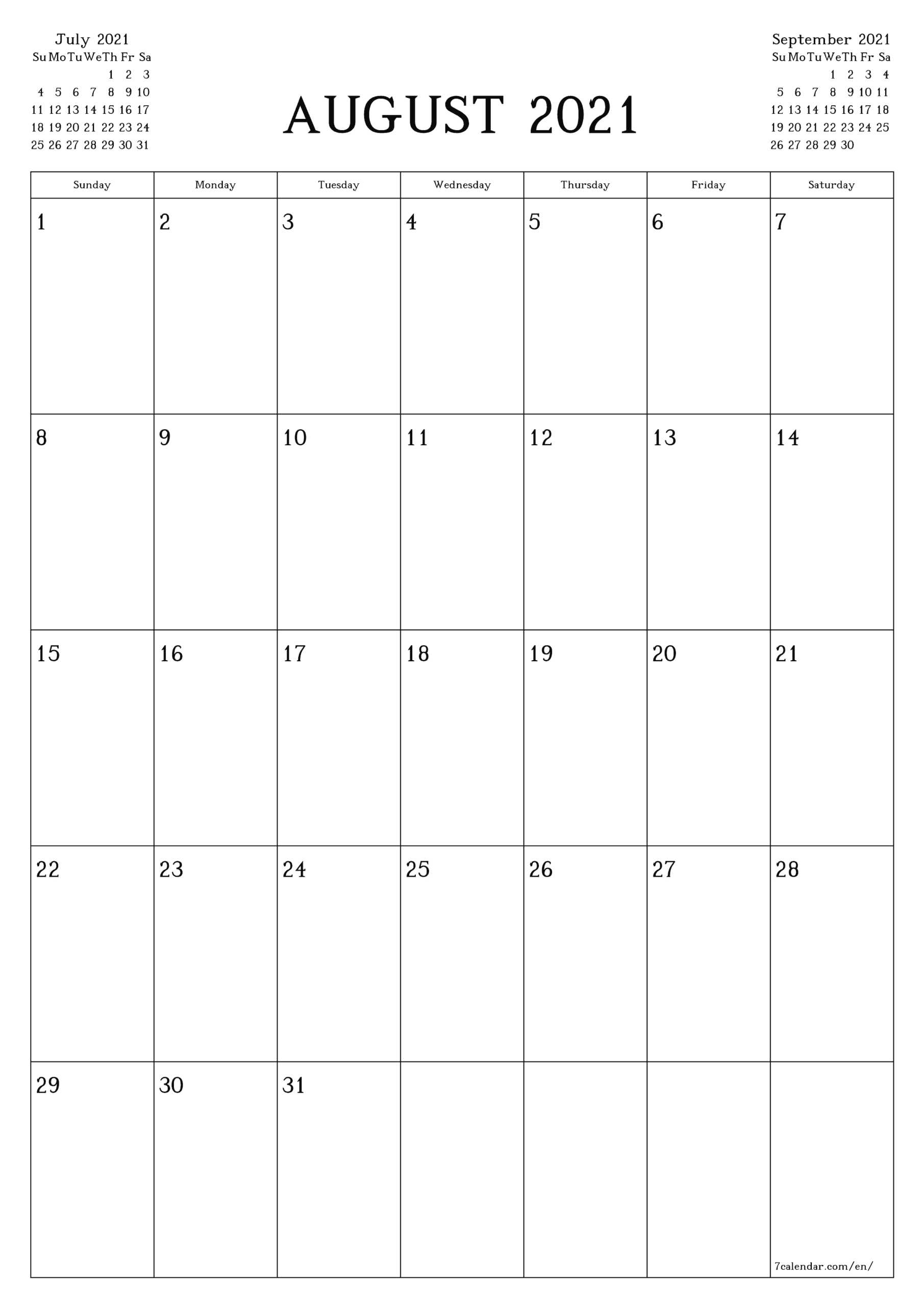 Free Printable Blank Monthly Calendar And Planner For regarding Blank Monthly Calendar Portrait